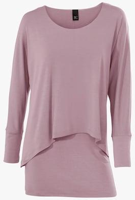 Linea Tesini Rundhals-Shirt - rosenholz
