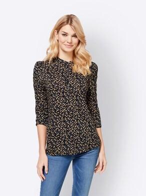 Linea Tesini Shirt - marine-bedruckt