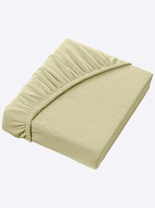Schlafgut Spannbetttuch - grün
