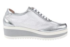 heine Sneaker - weiß-silberfarben