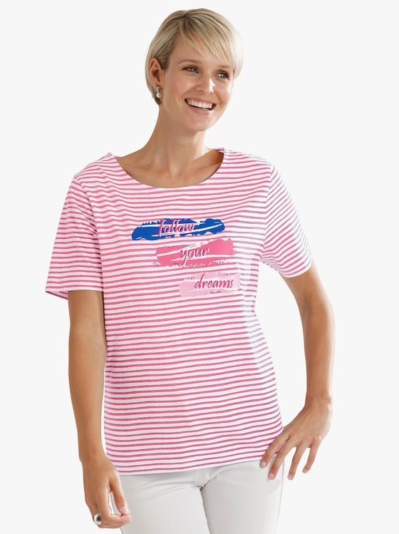 Shirt - koralle-geringelt