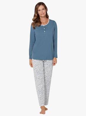 wäschepur Schlafanzug - jeansblau-gemustert