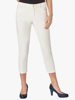 Jeans wadenlang - wollweiß
