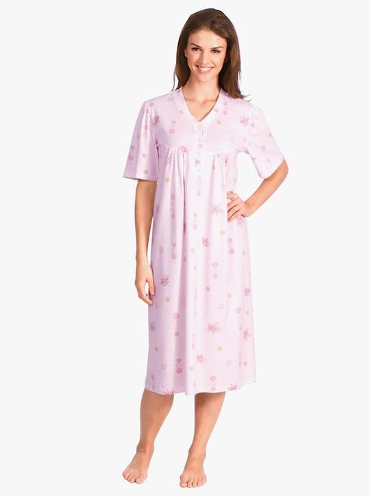 Nachthemd - roze geprint
