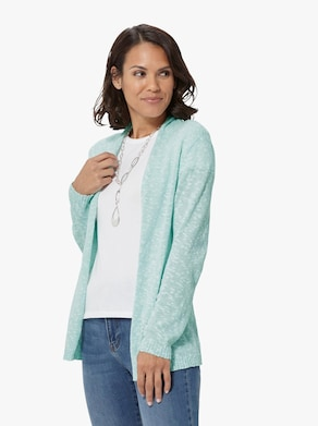 Strickjacke - mint-meliert
