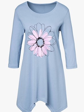 Longshirt - hellblau-bedruckt