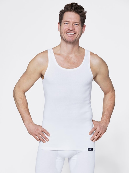 wäschepur Unterhemd - weiß