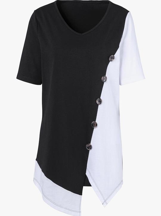 Shirt - zwart/wit