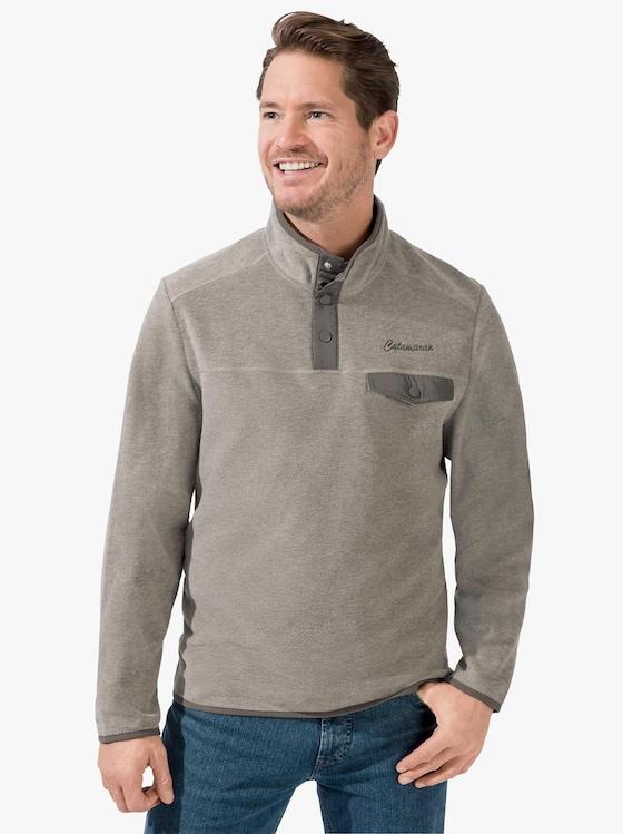 Catamaran Fleece-Shirt - natur-meliert