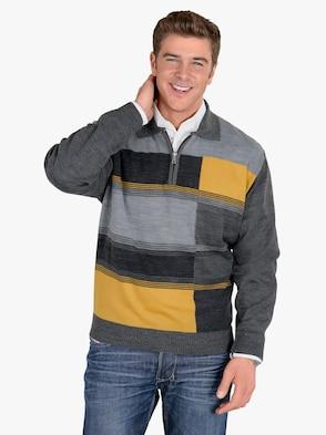 Pullover - anthrazit-gelb