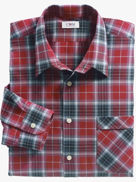 Hemd met lange mouwen - rood/grijs