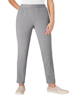 Jersey-Hose - grau-weiß