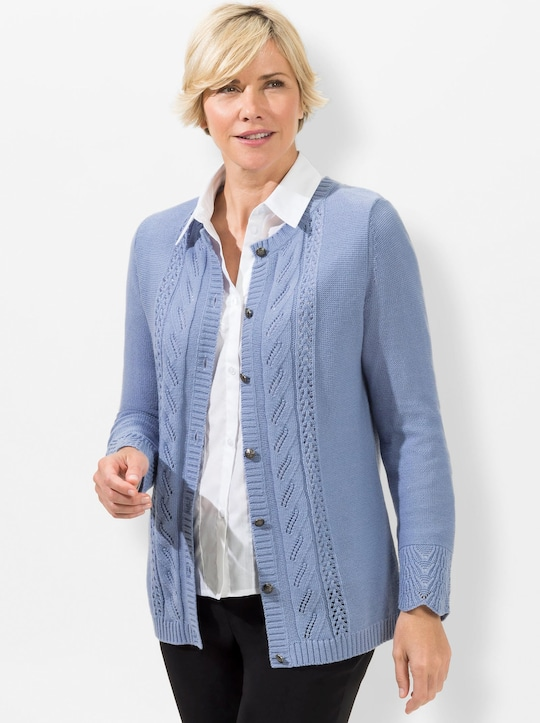 Strickjacke - bleu