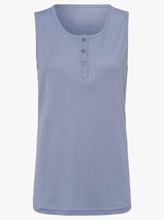 Shirttop - duivenblauw