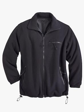 Fleece-Jacke - schwarz