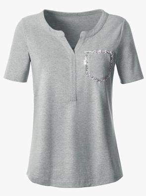 Shirt - silbergrau-bedruckt