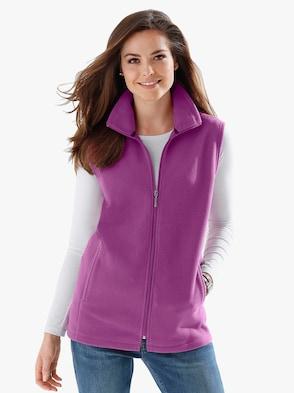 Flaušová vesta - purpurová