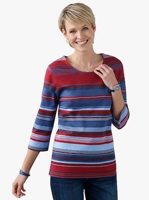 Shirt - blauw gestreept