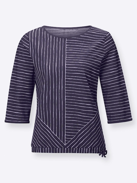 Shirt - nachtblau-geringelt
