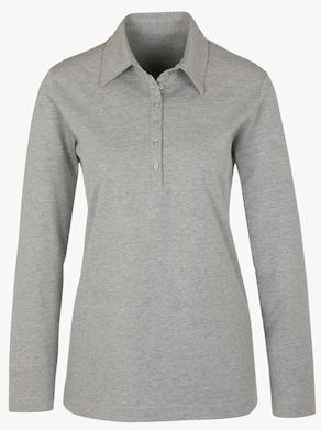 Poloshirt - grijs gemêleerd