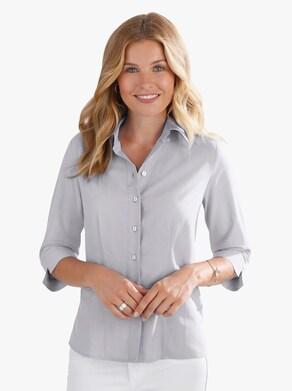 Overhemdblouse - zilvergrijs