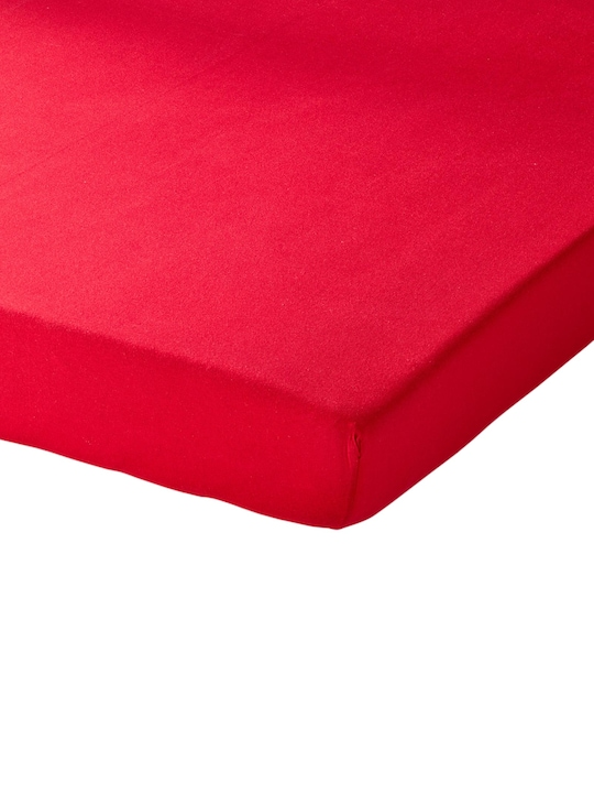 Schlafgut Spannbetttuch - rot