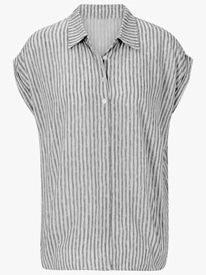 Bluse - grau-gestreift