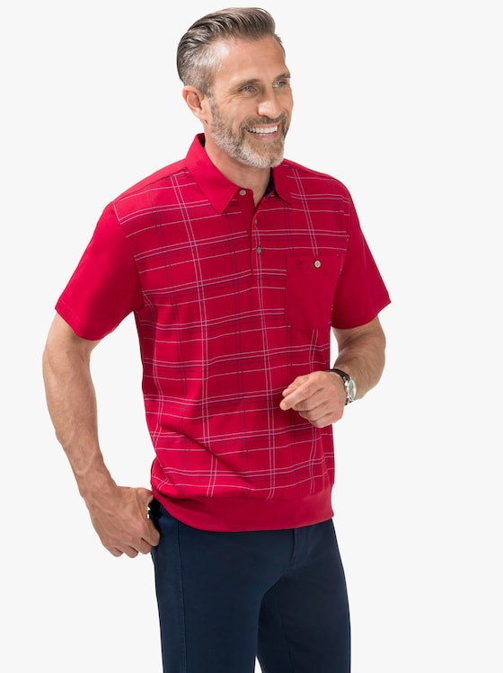 Hajo Kurzarm-Poloshirt - rot