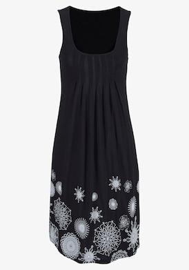 Beachtime Strandkleid - schwarz-weiß