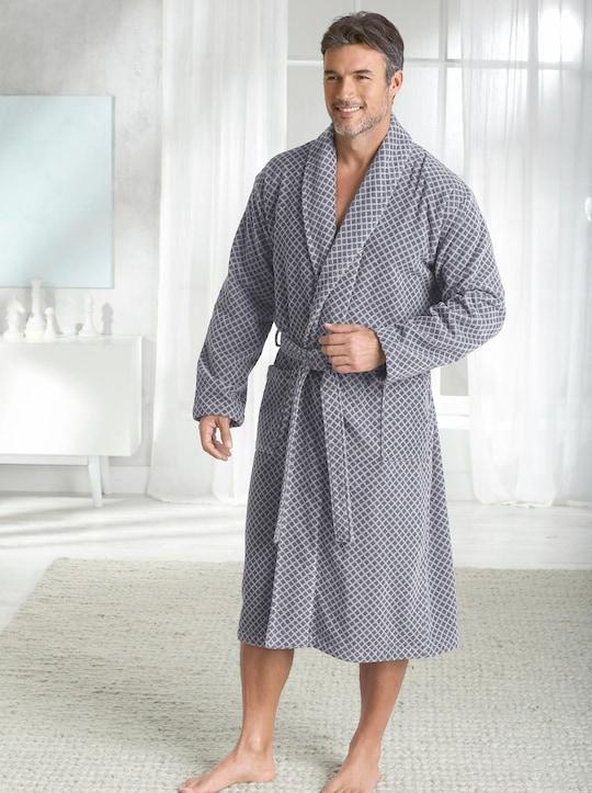 wewo fashion Bademantel - grau-gemustert