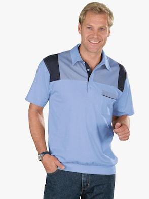 Poloshirt - hellblau-marine