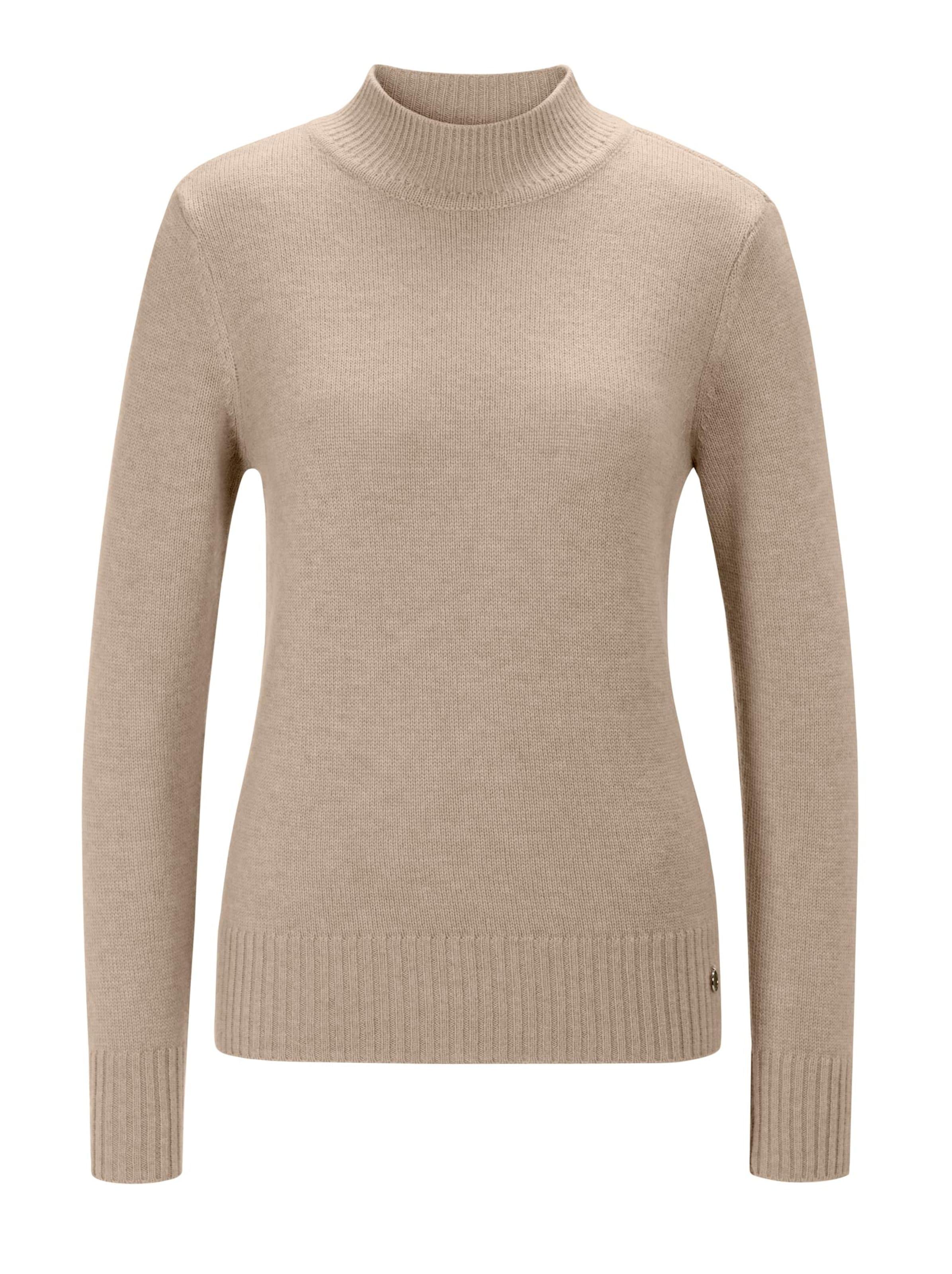 creation l premium - Witt Weiden Damen Merino-Kaschmir-Pullover beige-meliert
