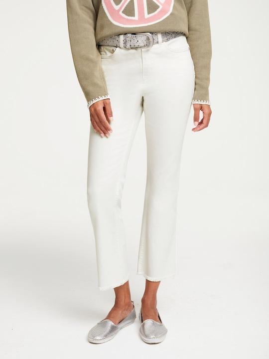 Linea Tesini Push-up-Jeans - ecru