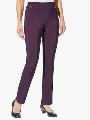 Kalhoty - lilková
