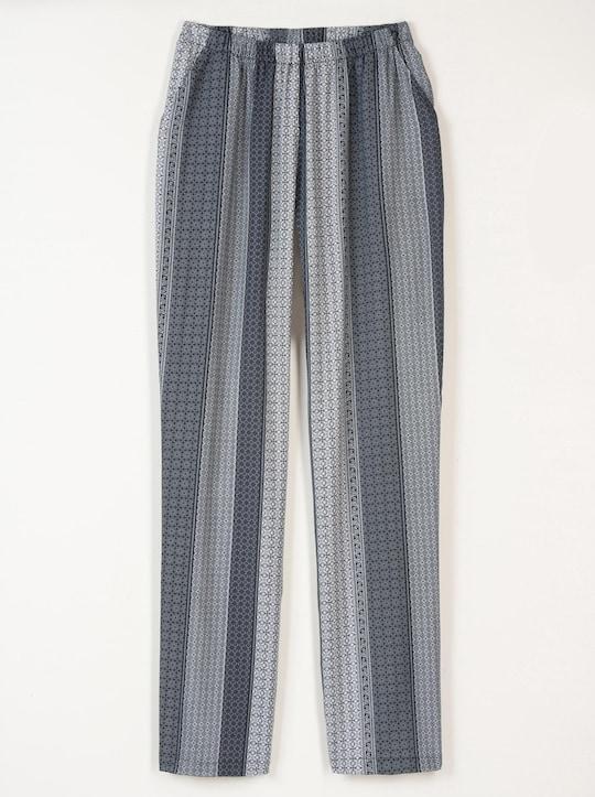 Hose - schwarz-bedruckt