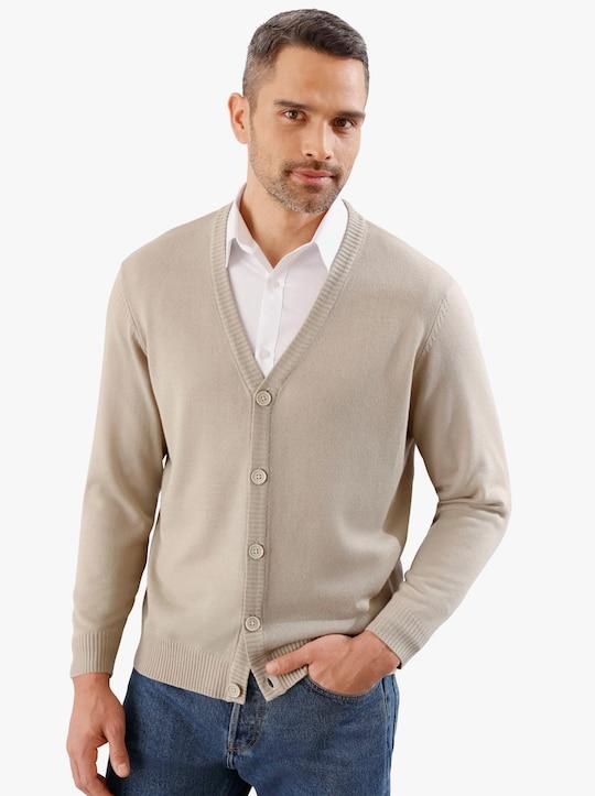 Pletený kabátek - béžová