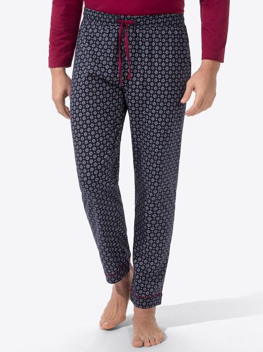 wäschepur Schlafanzug-Hose - dunkelblau-bedruckt
