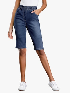 Jeans-Bermudas - blue-stone-washed