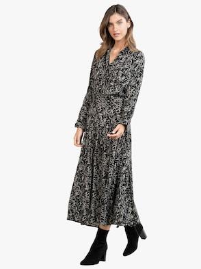 Kleid - schwarz-grau-bedruckt