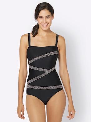 feel good Badeanzug - schwarz