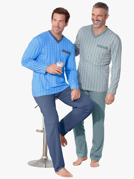 Pyjamasar - mint + blå