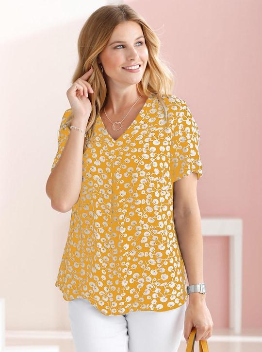 Bluse - gelb-bedruckt