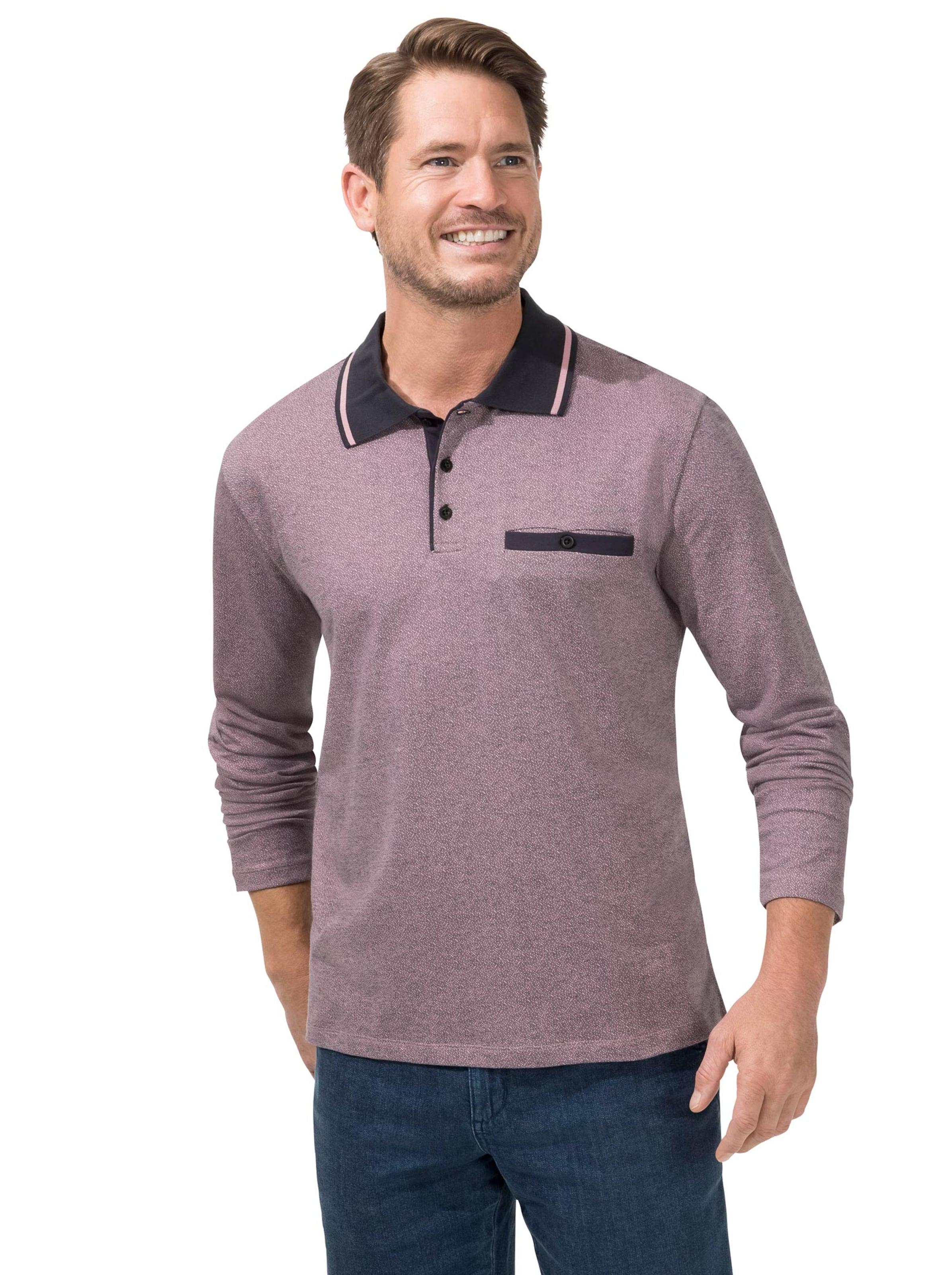 witt weiden - Herren Langarm-Shirt aubergine