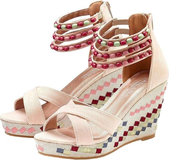 LASCANA High-Heel-Sandalette - sand-multi