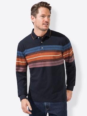 Hajo Langarm-Shirt - marine-gestreift