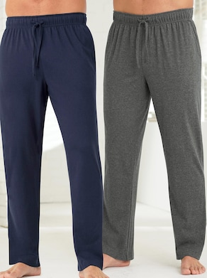 wäschepur Hose lang - blau + grau-meliert