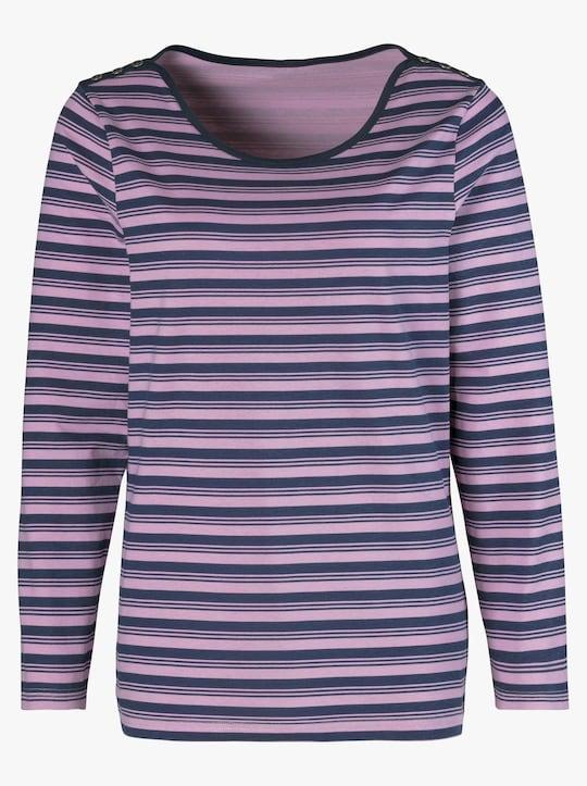 Shirt - lila gestreept