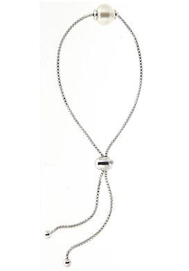 Firetti Zilveren armband - zilverkleur/wit