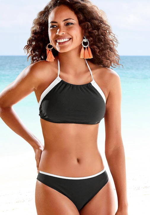 LASCANA Bustier-Bikini - schwarz-weiß
