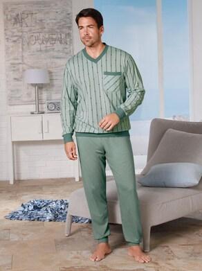 KINGsCLUB Schlafanzug - mint-petrol